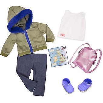 Notre génération 70.30403Z Warm Wayfarer Toy Accessoires Outfit, pour une poupée de 18 pouces / 46 cm