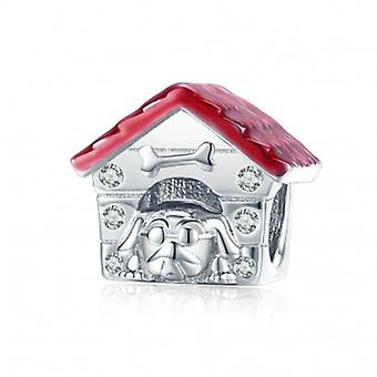 Sterling Silver Charm Dog Home - 6760
