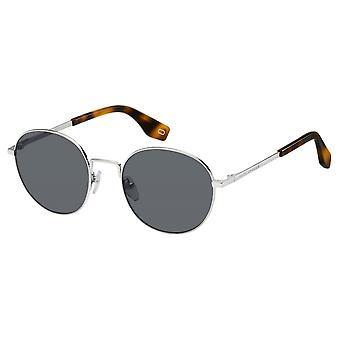 Sunglasses Men's round silver/grey for men