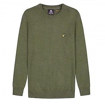 Lyle & Scott Trek Green Crew Neck Mottled Jumper KN1000V