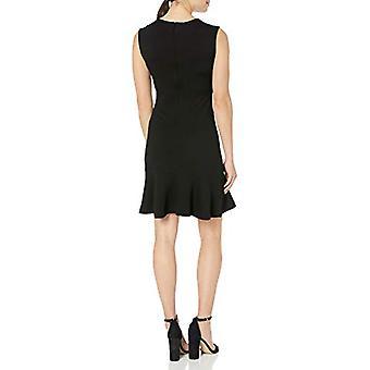 Brand - Lark & Ro Women's Sleeveless Sheath Dress with Hem Ruffle, Noi...