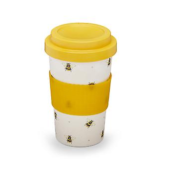 Cooksmart Bumble Bees Bamboo Travel Mug