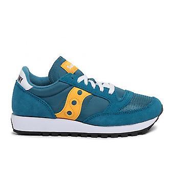 Saucony Ezcr067001 Femmes's Green Suede Sneakers