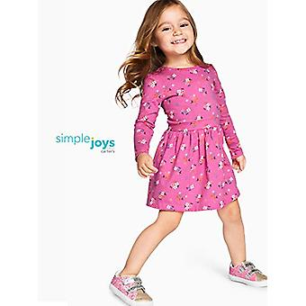 Simple Joys by Carter's Girls' Toddler 2-Pack Long-Sleeve Dress Set, Floral/h...