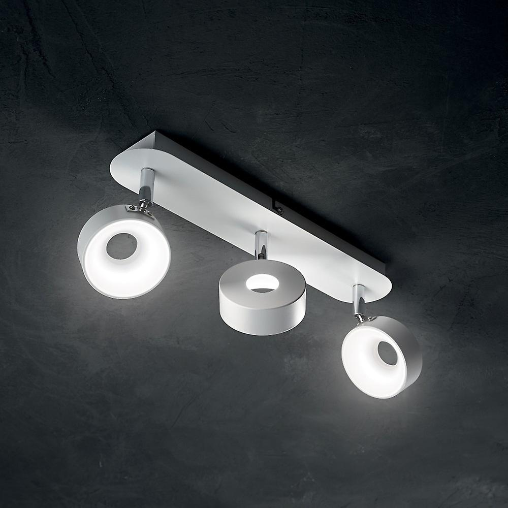 Ideal Lux Oby - LED 3 Light Ceiling Light White
