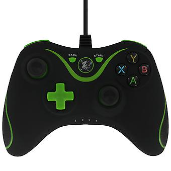 Zedlabz 2.2m compatible wired vibration controller for microsoft xbox one with 3.5mm headset jack