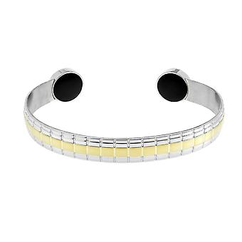 Lux Two Tone Magnetic Bangle (Size: Small 130-150mm)