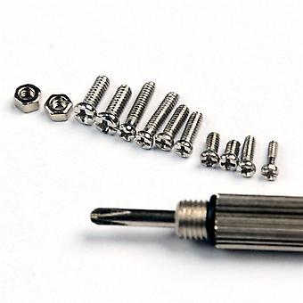 Kleine roestvrijstalen schroeven, 12 soorten elektronica moeren assortiment + 1pc