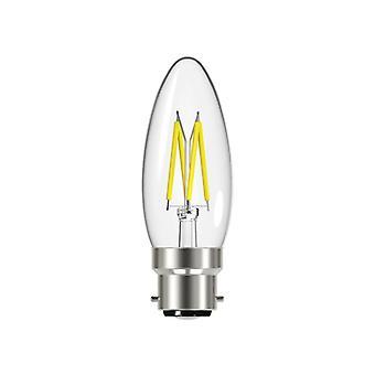 Energizer LED BC (B22) Filamento de vela bombilla no regulable, blanco cálido 250 lm 2.4W