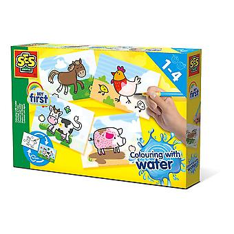 SES Creative Children's My First Colouring with Water Farm Animals Set (14455)
