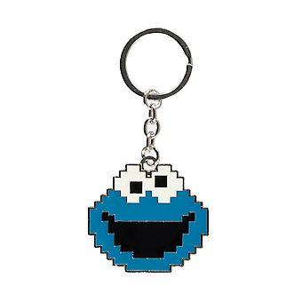 Sesame Street Cookie Monster Face Keyring
