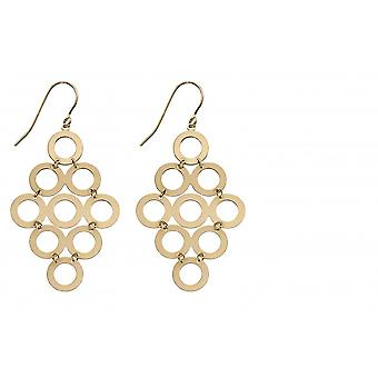 Elements Gold 9ct Yellow Gold Multi Circle Earrings GE2313