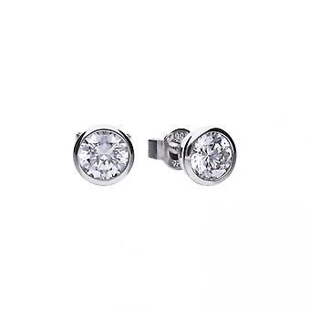 Boucles d'oreilles Diamonfire Silver White Zirconia Solitaire E5619