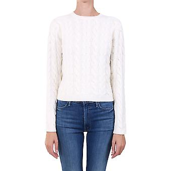 Max Mara Nettuno001 Women's White Wool Sweater