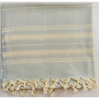 Aqua Perla Summer Breeze Turkish Towel Light Blue Peshtemal Cotton
