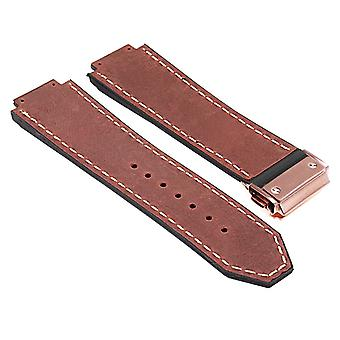 Strapsco dassari-vintage-leather-strap-for-hublot-big-bang-with-rose-gold-clasp
