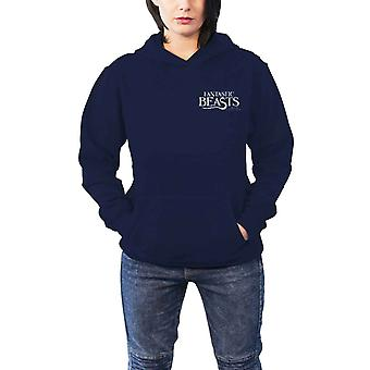 Fantastic Beasts sudadera con capucha Macusa logotipo nuevo oficial mujeres Slim Fit azul Pullover