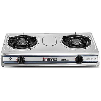 Cuisinière au gaz liquéfié Acier inoxydable, Cuisine maison, Double gamme, Aluminium