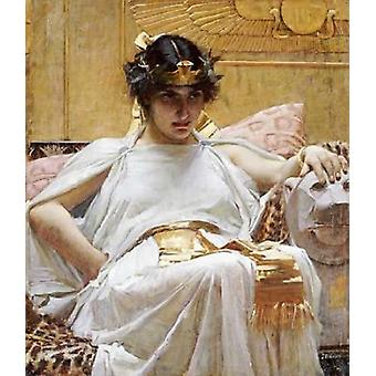 Cleopatra Poster Print by  John William Waterhouse