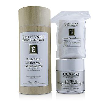 Bright skin licorice root exfoliating peel (with 35 dual textured cotton rounds) 219014 50ml/1.7oz
