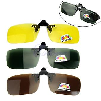 New Day Night Vision Polarized Driving Clip-on Flip-up Lens Sunglasses