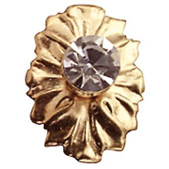Dolls House 2 kristalli ja kulta medaljonki käsittelee nupit Miniature Diy Lisävaruste