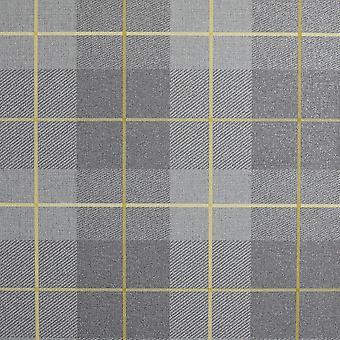 Heritage Tartan Wallpaper Ochre / Grey Arthouse 299000