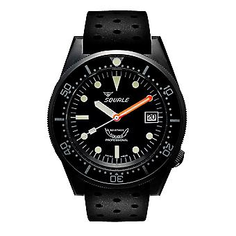 Squale 1521PVD.NT 500 Meter Swiss Automatic Dive Wristwatch Rubber