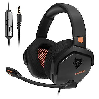 Nubwo ps4 headset xbox one stereo gaming headphone with noise cancelling with in-line control for ps