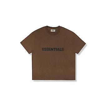 Fear Of God Essentials X Ssense Boxy T-Shirt Applique Logo Rain Drum - Clothing