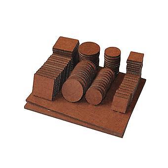 Felt Furniture Pads, Floor Protectors for Wooden Furniture Chair Tables Leg Feet, 96pcs