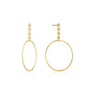 Ania Haie Shiny Gold Spike Hoop Oorbellen E025-04G