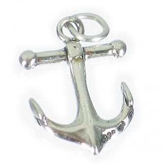 Anchor Sterling Silver Charm Pendant .925 X 1 Anchors Yachting Charms - 2081