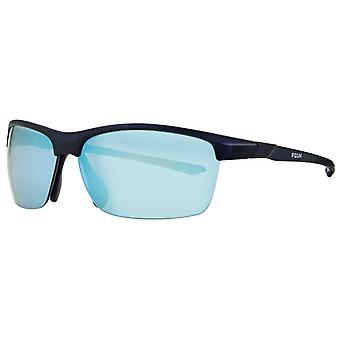 Franse verbinding Rimless Sport Wrap zonnebril - Mat Blauw