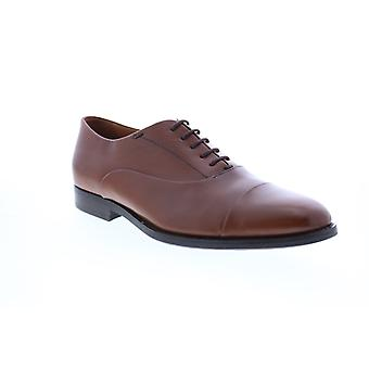 Geox U Hampstead Mens Brown Leather Oxfords & Lace Ups Cap Toe Shoes