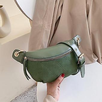 New Brand Belt Bag Women Waist Bag / Pack Pu Leather Chest Bag Belly Bag