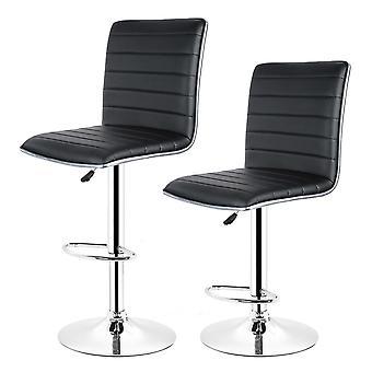 2pcs Bar Stool/chair Kitchen Swivel Bar Breakfast Stool Adjustable Home