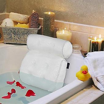 3d Mesh Spa Cushion Bath Tub Spa Pillow Non-slip Bathtub Head Rest Pillow (a)