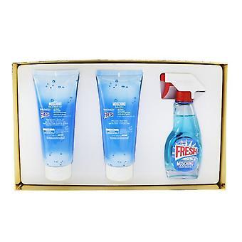 Moschino Fresh Couture Coffret: Eau De Toilette Spray 50ml/1.7oz + Body Lotion 100ml/3.4oz + Bath & Shower 100ml/3.4oz 3pcs