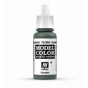 Vallejo Model Color 17ml Acrylic Paint - 895 Gunship Green