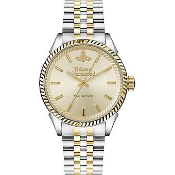 Vivienne Westwood Vv242cmsg Seymour Champagne Dial & Two Tone Inoxidless Steel Gents Watch