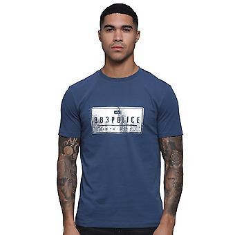 Polis Hoop 7593 Holographic Silver Foil Print Halvärmad T-shirt