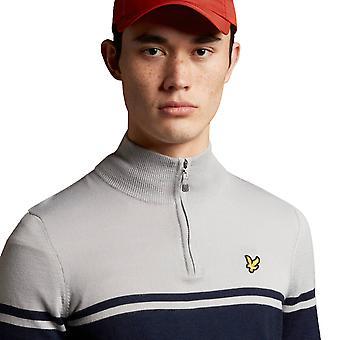 Lyle & Scott Mens 2021 Croft vedenkestävä 1/4 Zip Golf Pullover Villapaita