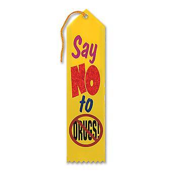 Diga no a la cinta de premio de drogas (paquete de 6)