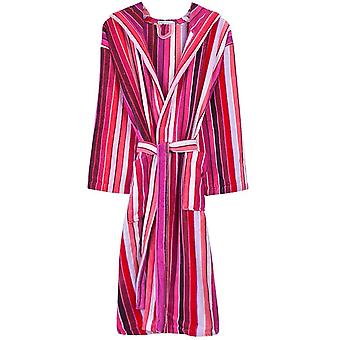 Bown of London Artisan Stripe Luxury Dressing Gown - Pink