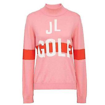 Suéter de golf de manga larga de lana de conejo