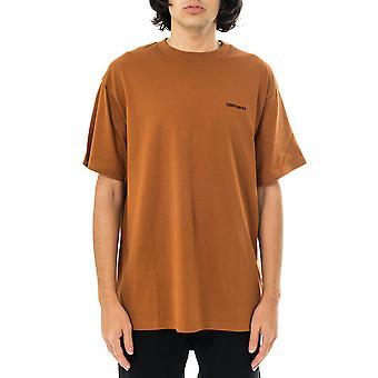 T-shirt homme carhartt wip s/s script broderie t-shirt i025778.0ab