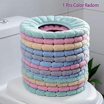 Universal Warm Soft Washable Toilet Seat Cover Mat Set