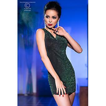فستان صغير CR4238 أسود / أخضر