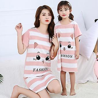 Family Mother Daughter Dresses, Summer Pajamas Set
